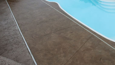 Stained Pool Deck Concrete