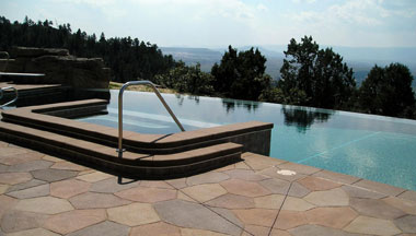 Stamped Pool Deck Concrete
